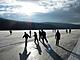 Eislaufstrecke am Lipno-See